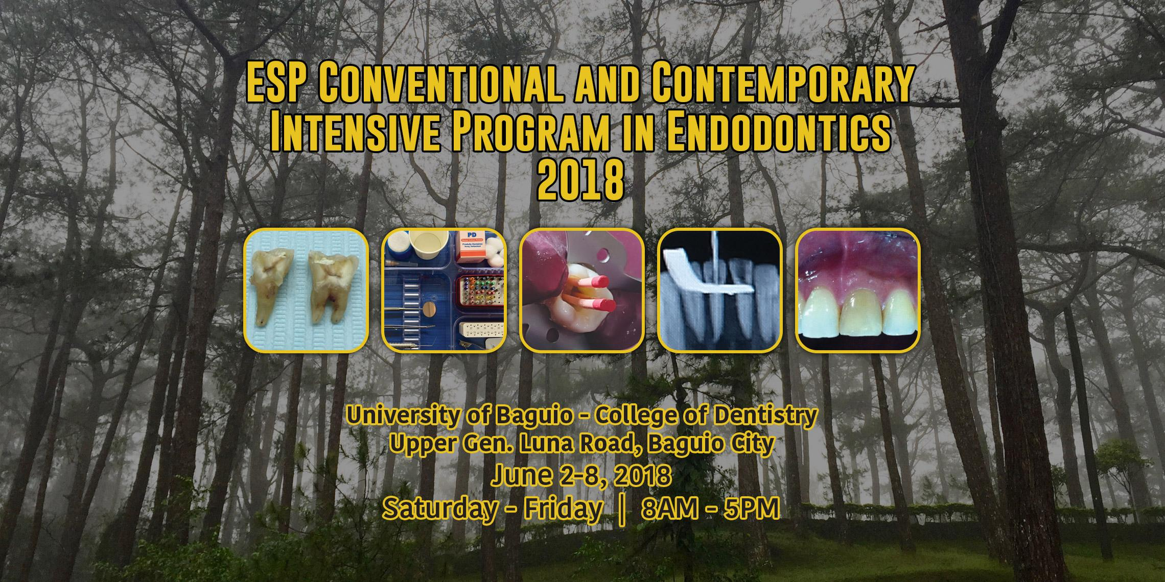 ESP Conventional and Contemporary Intensive Program in Endodontics 2018